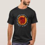 peace dove, flaming dove, latin phrase T-Shirt