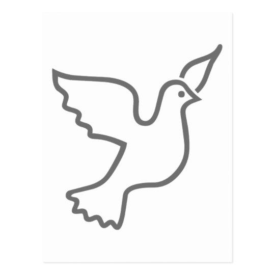 Peace Dove Gray Postcard