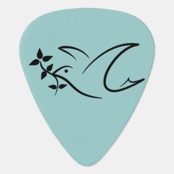 Peace Dove Guitar Pick by mystic_persia at Zazzle