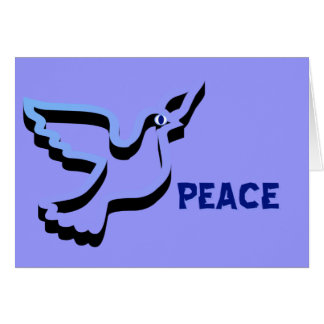 Peace Dove Happy New Year Card