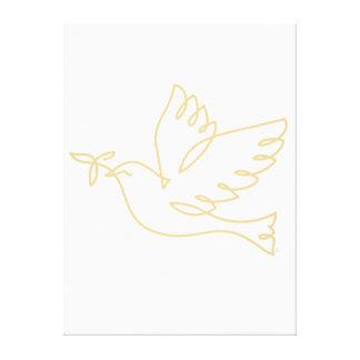 Peace Dove Icon Canvas Print