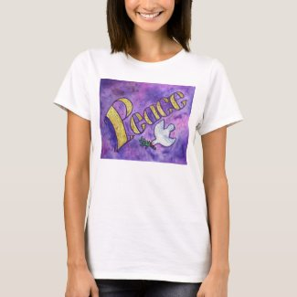 Peace Dove Inspirational Word Art T-shirts