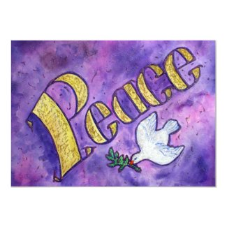 Peace Dove Invitation