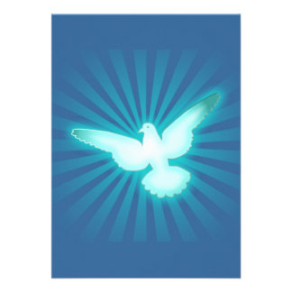 Peace dove personalized announcements