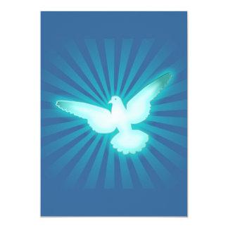 Peace dove 5x7 paper invitation card