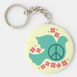 Peace Dove Keychain