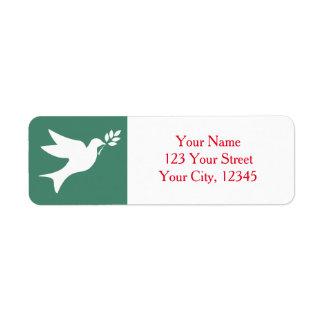 Peace Dove Label