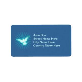 Peace dove address label