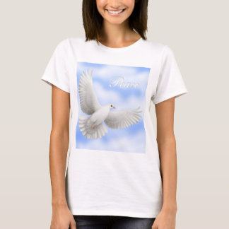 Peace Dove Ladies Babydoll T-Shirt