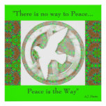 Peace Dove - Mandala Poster - With Quote.1