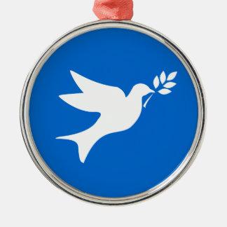 Peace Dove Metal Ornament