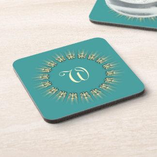 Peace Dove Monogram Circle Coaster