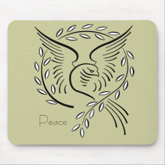 Peace Dove Mouse Pads