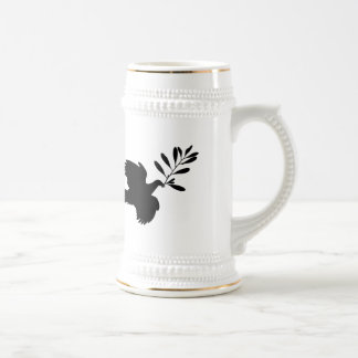 Peace Dove 18 Oz Beer Stein