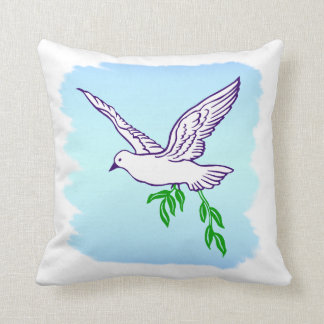 Peace Dove Olive Branch Pillow