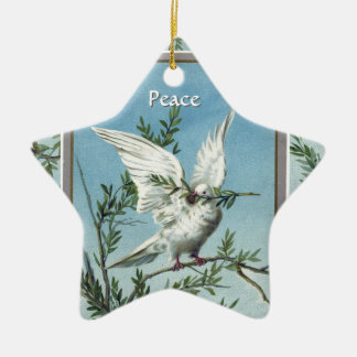 Peace Dove on Olive Branches - Star Ornament