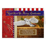 Peace Dove Patriotic Christmas Card