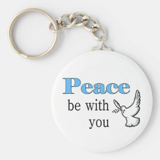 Peace dove, Peace be with you Basic Round Button Keychain