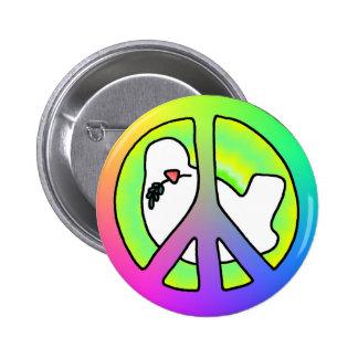 Peace dove peace deaf more anstecker more sticker pinback button