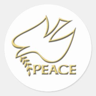 Peace Dove Peace Sign Round Sticker