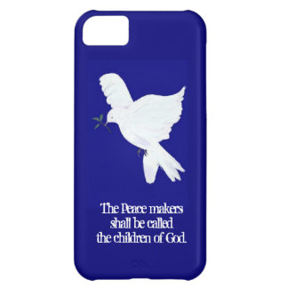 Peace Dove-Peacemakers Bible Quote Cover For iPhone 5C