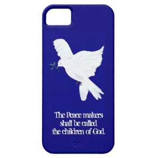 Peace Dove-Peacemakers Bible Quote iPhone SE/5/5s Case