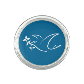 Peace Dove Photo Ring