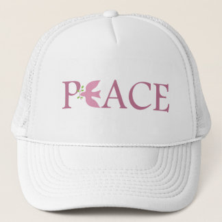 Peace dove pink trucker hat