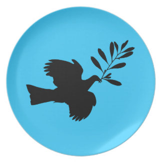 Peace Dove Party Plate