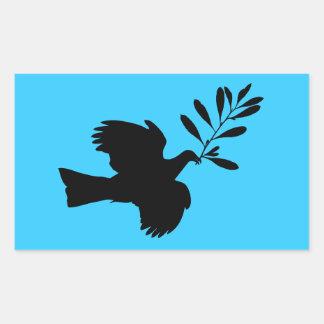 Peace Dove Rectangular Sticker