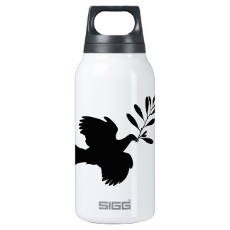 Peace Dove 10 Oz Insulated SIGG Thermos Water Bottle