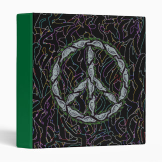 Peace dove sign cool graphic art binder design