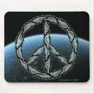 Peace dove sign cool graphic art mousepad