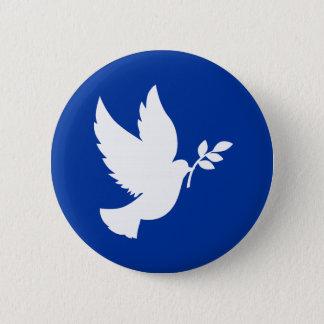 Peace Dove Silhouette Button