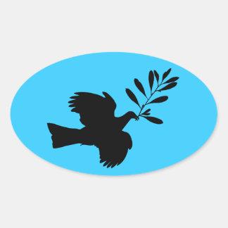 Peace Dove Oval Sticker