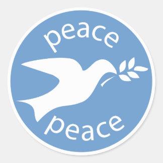 Peace Dove Round Stickers