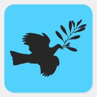 Peace Dove Square Sticker