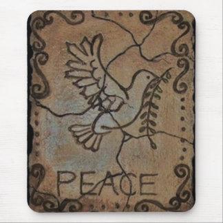 Peace Dove Stone Mouse Pad