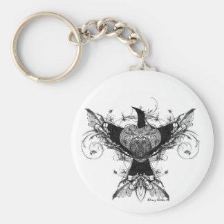 Peace Dove tattoo art keychain