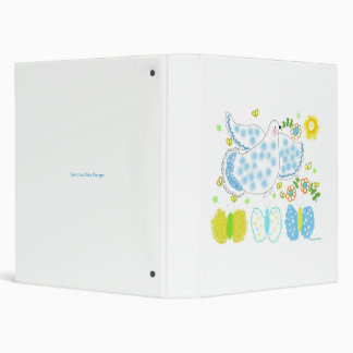 Peace Dove with butterflies and flowers 3 Ring Binders