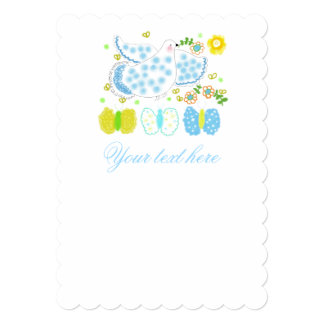 Peace Dove with butterflies invitations. Card