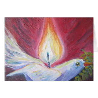 peace dove with flame card