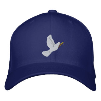 Peace dove with olive branch Blue cap