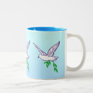 Peace Dove with Olive Branch Coffee Mug
