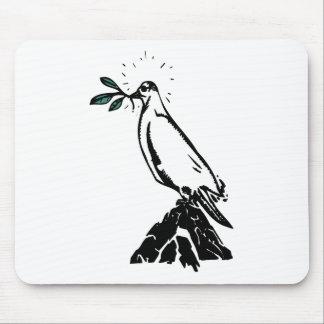 peace dove wreath mouse pad