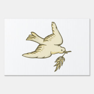 Peace Dove Yard Signs
