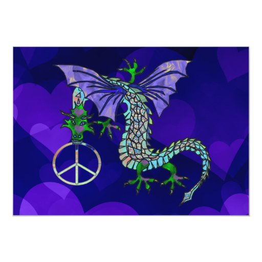 Peace Dragon Invitations