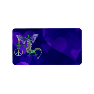 Peace Dragon Personalized Address Labels