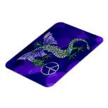 Peace Dragon Vinyl Magnet