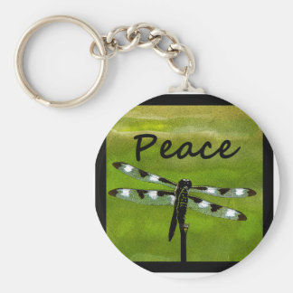 Peace Dragonfly Key Chain